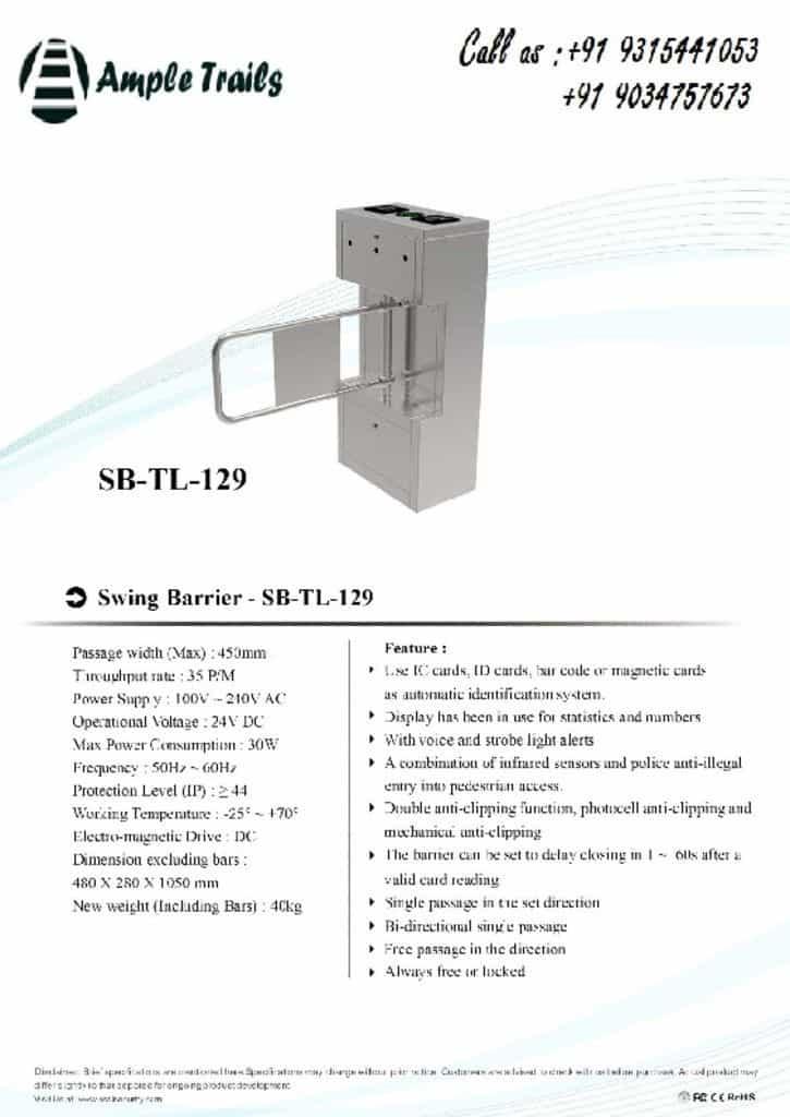 thumbnail of swing-barrier-SB-TL-129