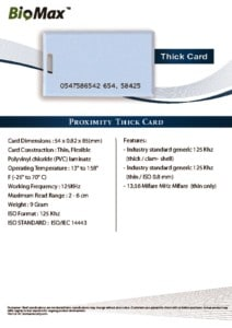 thumbnail of Thick Card – Biomax